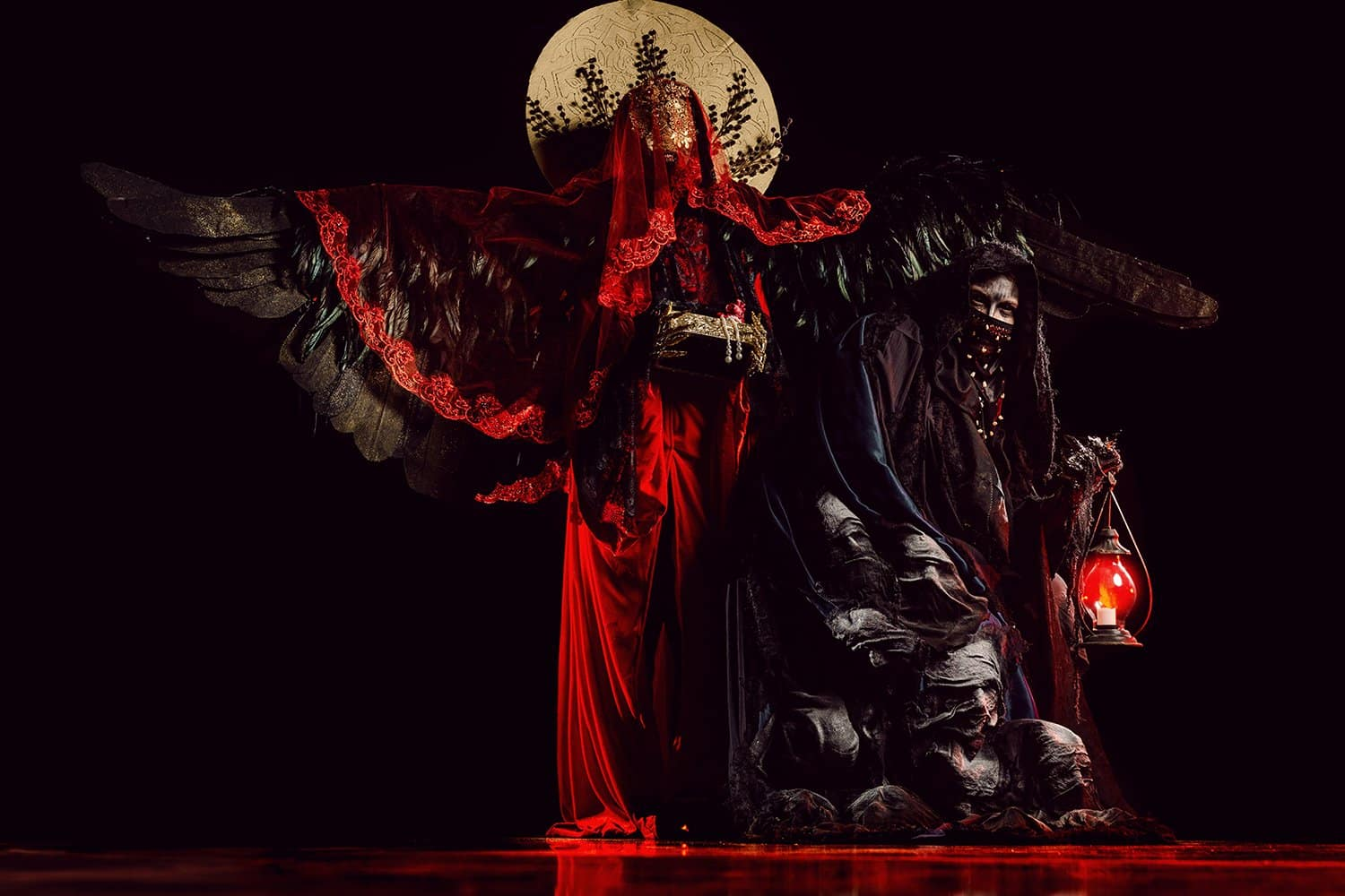 creepy costumes inspired by Greek mythology at Sidney Berne Davis Arts Center
