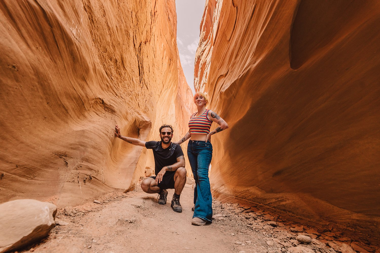 jesi cason photography and peter kolter in a slot canyon
